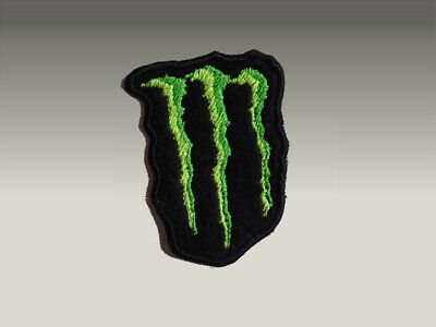 2 Patch Toppe Monster Energy  Embroidery Ricamate Termoadesive 8X5 Cm