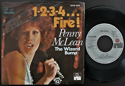 PENNY McLEAN 1975 SINGLE MADE IN PORTUGAL 45 PS 7 *1-2-3-4...FIRE!*