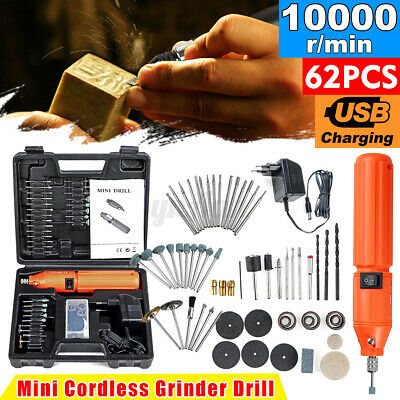 Rechargeable Mini Electric Rotary Drill Grinder With 60pcs Dril Bits
