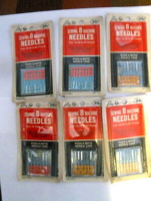 6 Unopened Packages of 8 Vintage LILY Sewing Machine Needles Size 16 - 30 to 80