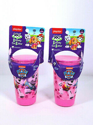 Playtex Sippy Cup Sipsters Stage 2 Paw Patrol Girls Spoutless, 10 Oz Set of Two