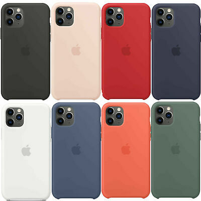 Original Silicona Genuina Case Funda Para iPhone X XR XS 11 Pro Max 8 7 6 S Plus