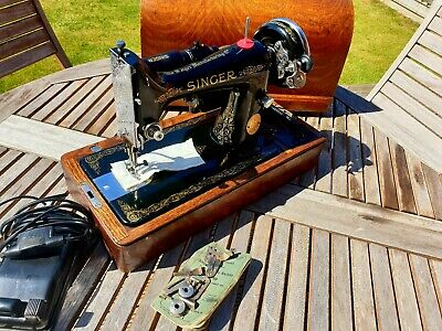 1934 Beautiful Singer 99K Electric Sewing Machine, Serviced & Great Condition