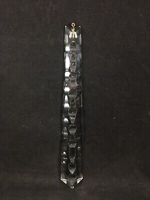"""VTG Clock Part German Grandfather Cuckoo Counter Weight Glass Crystal Hanging 8"""""""