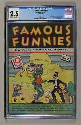 Famous Funnies #1 CGC 2.5 1934 1172832001