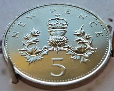Mega Rare 1972 Five Pence Proof Coin. Not released. Wow mint