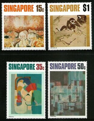 Singapore 1972 Contemporary Art set of 4 Mint Unhinged
