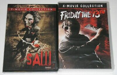 Horror DVD Lot - Friday the 13th 8-Movie Collection (New) SAW 7-Movie Collection