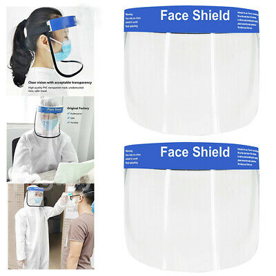 2pcs Full Face Covering Anti-Fog Shield Clear Glasses Face Protection Tooling