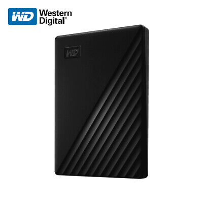 WD 1TB 2TB 4TB 5TB My Passport Portable External Hard Drive USB 3.2 Gen 1 BLACK
