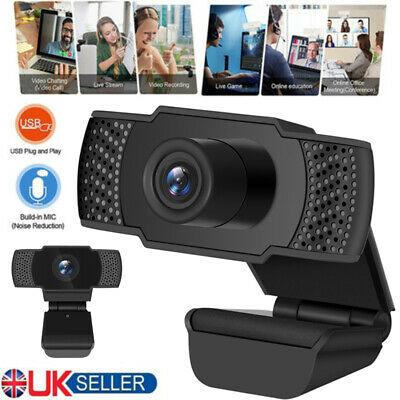Full HD 1080P Webcam Camera Web Cam For Desktop PC Networks Video w/Microphone