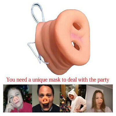 LD 1PC PIG NOSE COSTUME ACCESSORY MASK RUBBER HOG BOAR SNOUT NOSES GAG GIFT HOT