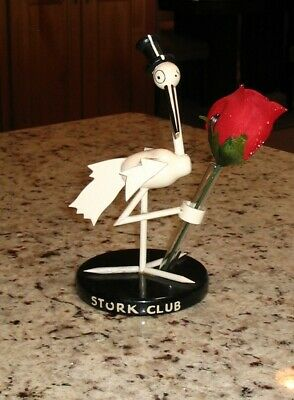 Art Deco STORK CLUB Wooden Stork Table Centerpiece/Bud Vase