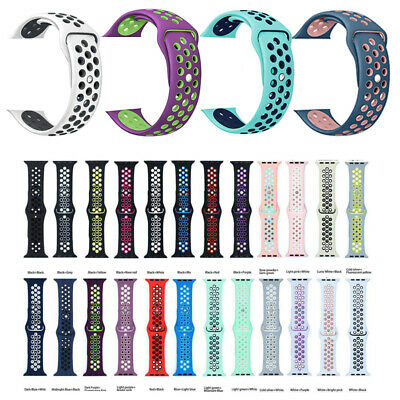 Silicone Band Strap For Apple Watch 1/2/3/4/5 iWatch Sports Series 38/42mm