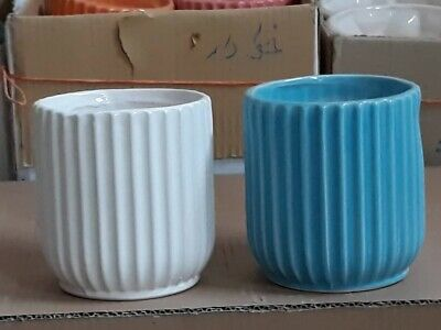 Import Ceramic Pottery- Lined- 2 Colours- Code: L017