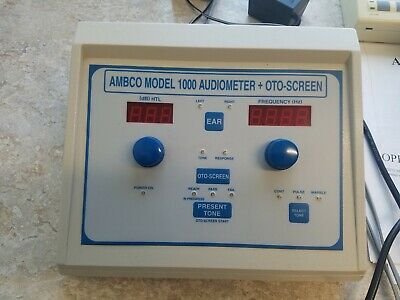 AMBCO 1000+ Audiometer & instructions Tested