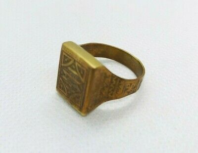 Very Rare Ancient Ring Viking Bronze Antique Vintage Artifact Authentic Stunning