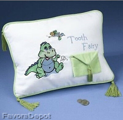 tooth fairy Pillow dinosaur first birthday baby gift  baby shower gift