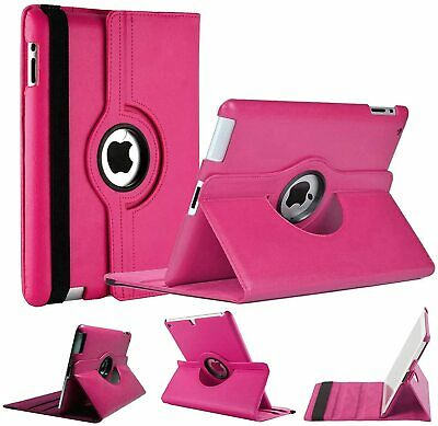 Apple iPad Mini 1 2 3 Rotating 360 Case with Stylus & Screen Protector - Pink