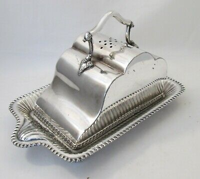 A Good Heavy Vintage Silver Plated Cheese Dish by Walker & Hall c1900