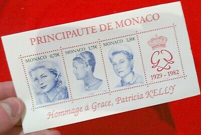 ►Neuf Bloc Feuillet Officiel Mnh 4 X Timbres Monaco 2004 Hommage Grace Kelly◄ Nf