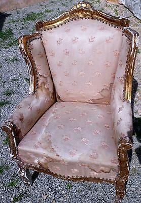 King Palace Gold Throne Ears Chair Seat Furniture Baroque Rococo Louis Seize