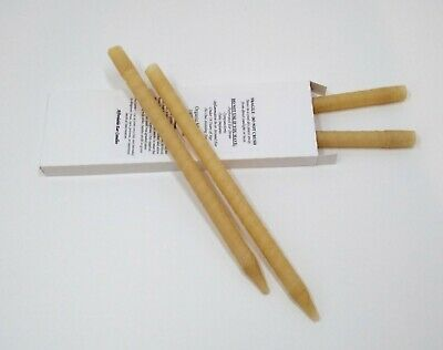 4 X (2 Pairs) Organic High Quality *Earwax** Candles Cylinder Hollow Beeswax Soy