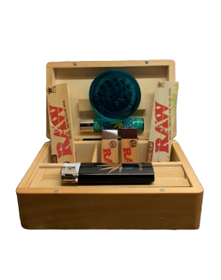 Raw Rolling Box Set With Grinder Lighter Rolling Papers