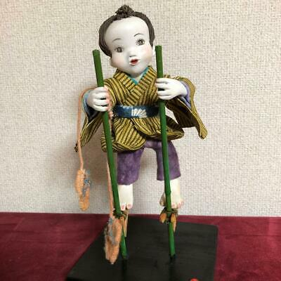 Japanese tradition antique Handmade paper clay doll Kimono Japanese paper japan