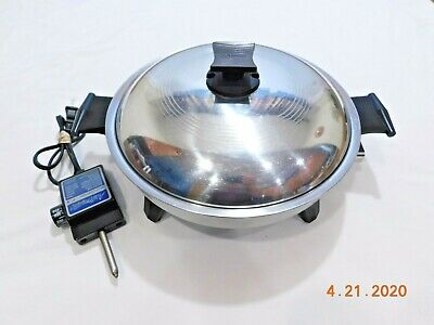 "RENA WARE 7125E 11"" Electric Skillet Liquid Core Stainless Steel Waterless"