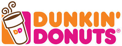 Dunkin Donuts Logo Sticker / Vinyl Decal  | 10 Sizes!!