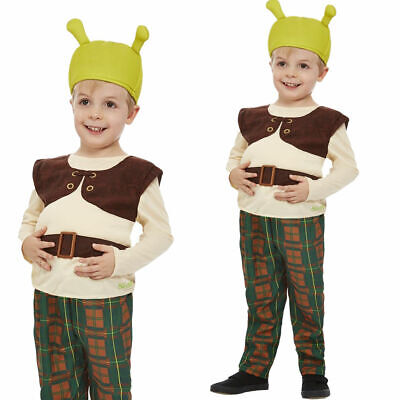 Kids Shrek Fancy Dress Childrens Ogre Costume Book Week