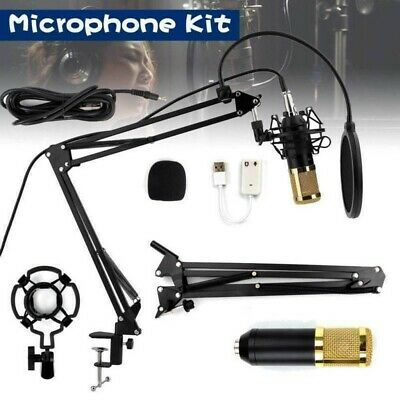 BM800 Broadcasting Studio Recording Condenser Microphone Mic with Arm Stand Kit