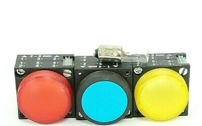 Lot Of 3 Generic Pushbuttons / Indicator Light Covers