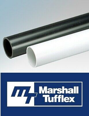 Marshall Tufflex PVC Conduit Cable Hide Management Black White 20mm/25mm Lengths