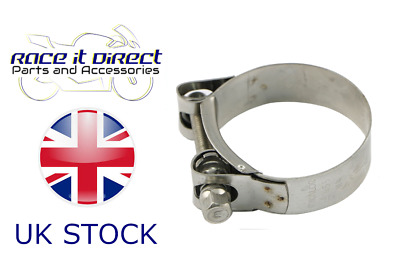 """Mikalor Stainless Steel Car Exhaust Hose Clamp 51mm 52mm 53mm 54mm 55mm Strap 2"""""""