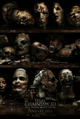 """TEXAS CHAINSAW 3D """"A"""" 13.5x20 PROMO MOVIE POSTER"""