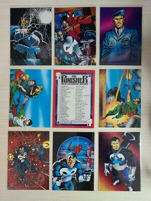 1992 The Punisher War Journal - Cards #1-90 - Set Break - Choose from The List