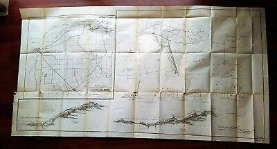 1899 CA Diagram Barrier Site Yuba Bear Rivers Reeds Creek Feather River Canals