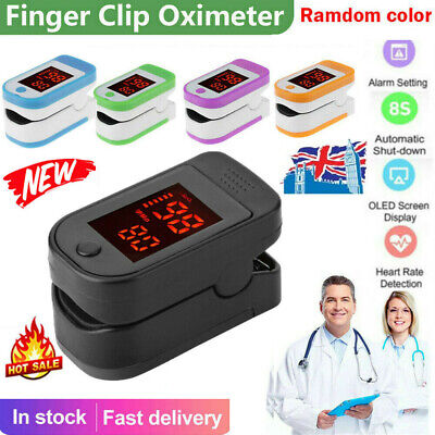 Finger tip Pulse Oximeter Blood Oxygen meter SpO2 Heart Rate Patient Monitor UK