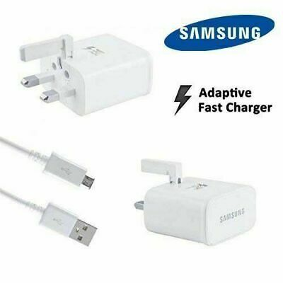 100% Genuine Fast Charger White Plug Cable,Samsung Galaxy S8 S9 S7 S6 S10+ Edge