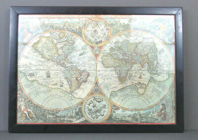 Early Print of  Original 1st Ed Copper Engraved Orbis Terrae Map by J B Vrients