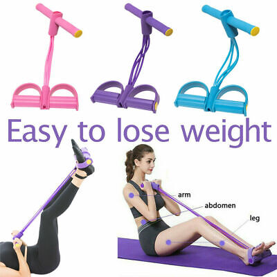Resistance Bands Home Yoga Foot Pedal Exercise Fitness Sit-up Pull Rope Elastic