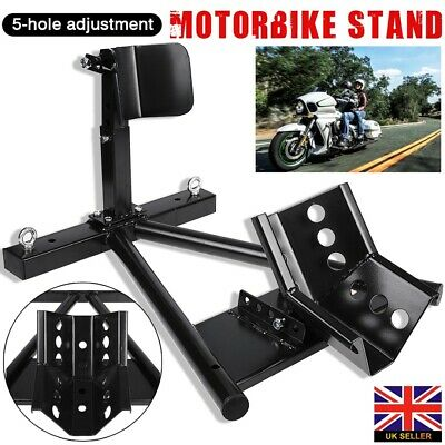 Qtech Motorcycle Motorbike FRONT Wheel Chock Stand Universal Fit Heavy Duty With 160mm Internal Width Stay Bike Anchor