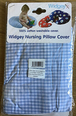 Mothercare Widgey Nursing / Breast Feeding Pillow Cover Blue / White Check