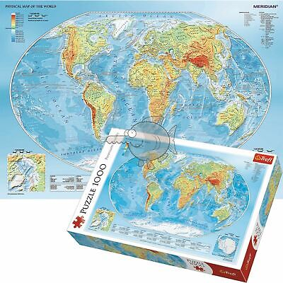 Trefl 1000 Piece Jigsaw Puzzle Physical Map Of The World