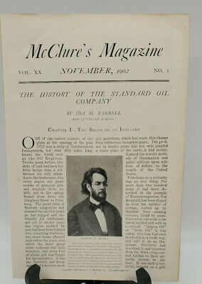 1902 History of Standard Oil Company Mcclures magazine  OIL GAS