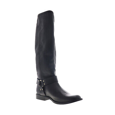 Frye Phillip Harness Tall 70511 Womens Black Leather Slip On Casual Dress Boots