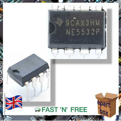NE5532P Operational Amplifiers Op Amps Dual Low Noise IC 30V 38mA DIP8