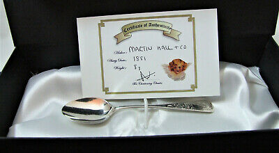 BOY Victorian Christening Spoon 1881 Christening Classic BOXED + COA 8g